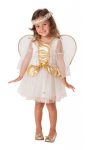 GOLD SPARKLE GLITTER ANGEL TODDLER GIRLS COSTUME